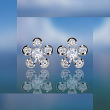 #16418 - Weiss CZ Earrings Rhodium Plated - Daisy Flower