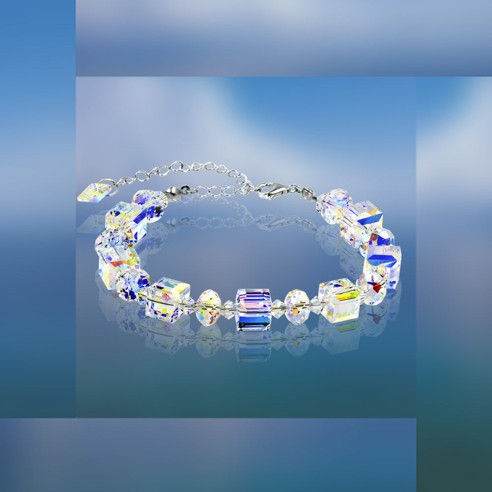 #16786 - Weiss Sterling Silver and Swarovski Crystal Bracelet