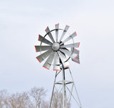 16' Four Legged Becker Windmill with 50' poly, 100' Quick Sink tubing and QS2 diffuser