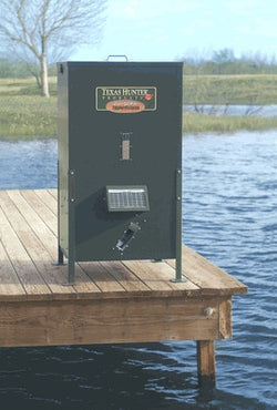 215 lb Fish Feeder with Straight Legs