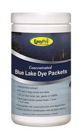 EasyPro Blue Pond Dye Powder, 3 Packet Jar