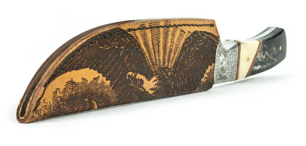 Custom engraved knife sheath.