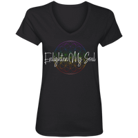 Enlighten My Soul Logo Ladies' V-Neck T-Shirt - Black