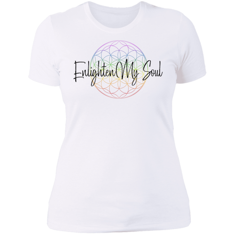 Enlighten My Soul Ladies' Boyfriend T-Shirt - White