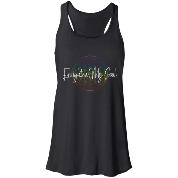 Enlighten My Soul Logo Flowy Racerback Tank -Black