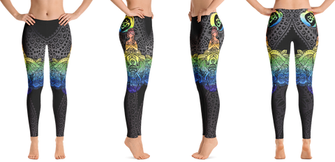 Rainbow Elephant Yoga Leggings