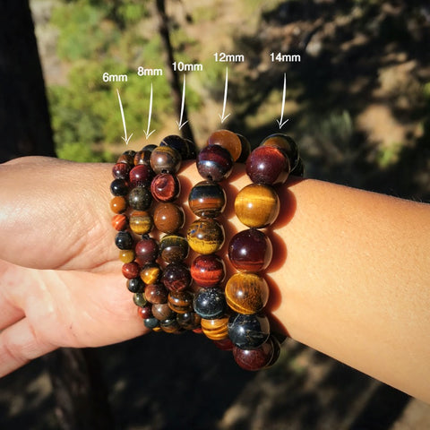 Tiger Eye, Hawk Eye, Eagle Eye Courage Bracelet