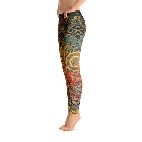 Golden Mandala Yoga Leggings