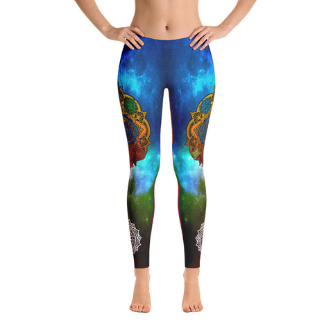 Colorful Universe Yoga Leggings