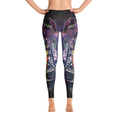 Universe 7 Chakras Yoga Leggings