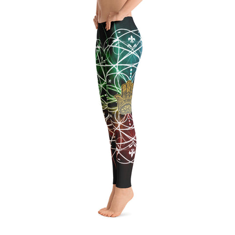 Geometric Hamsa Yoga Leggings