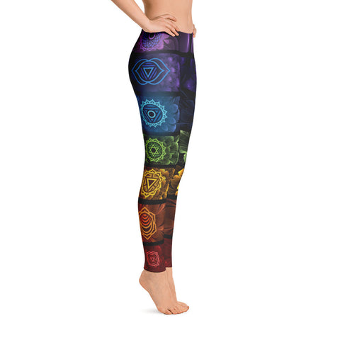 Chakra Flower Yoga Leggings