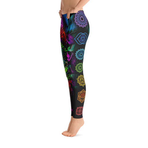 Bright Chakra Yoga Leggings