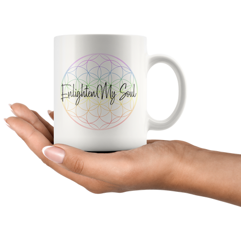 Enlighten My Soul Logo - White Mug