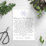 snowflake thank you cards