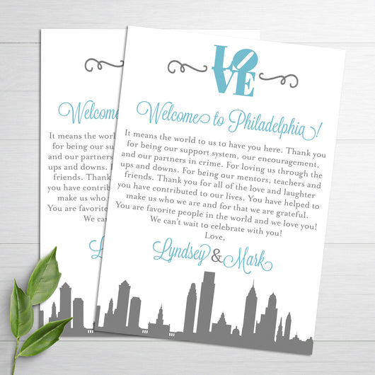 Philadelphia Wedding Thank You Notes