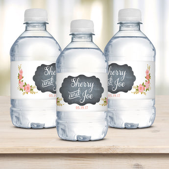 Wedding Water Bottle Labels