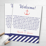 nautical wedding welcome letters