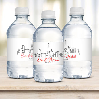 Vegas Wedding Water Bottle Labels