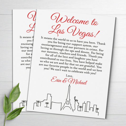 wedding welcome letters