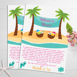 Welcome Letters - Tropical Palm Trees
