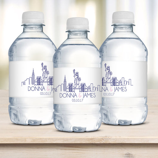 NYC Wedding Water Bottle Labels