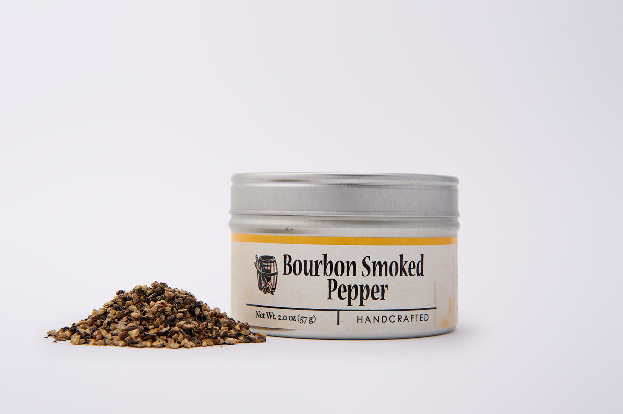 Bourbon Smoked Pepper - Quarter Cracked