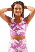 Load image into Gallery viewer, Pink Camo Bra Crop