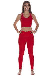 High Compression Recycled Legging - Red Hot