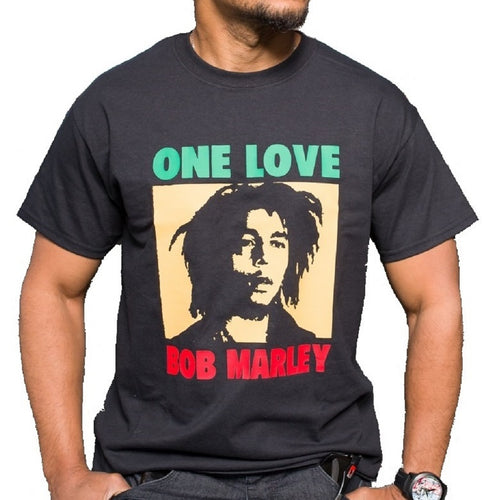 Front view of Bob Marley tee