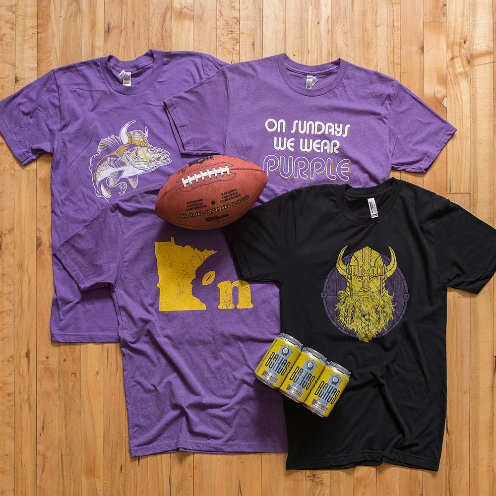 Vikings Walleye T-shirt On Sundays We Wear Purple