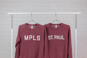MPLS Sweatshirt - Maroon - Northmade Co