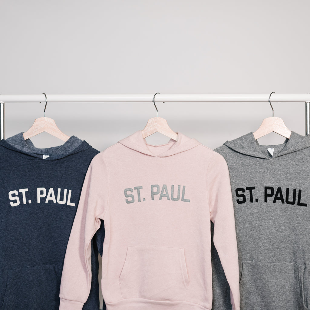 St. Paul Kids Hooded Sweatshirt - Rose Pink - Northmade Co