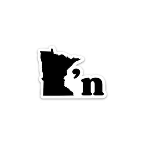 Minnesotan Sticker - MPLS / STP Clothing Co - 1
