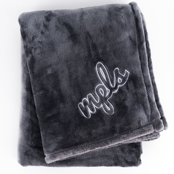 MPLS Script Fleece Blanket - Northmade Co