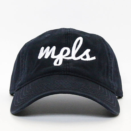 MPLS Script Hat - Navy - Northmade Co