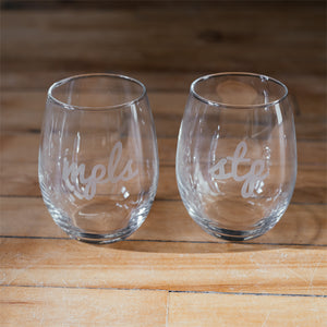 MPLS Script Wine Glass - Northmade Co