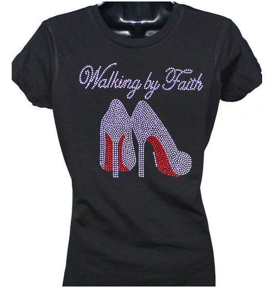 Walking in Faith Bling Tee