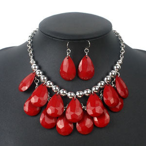 Boldly Red Necklace Set