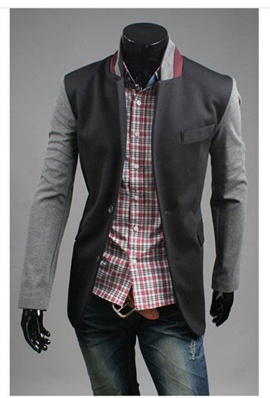 New Arrival High Quality Fashion Men Suit Brand Blazer Men Casual Slim Clothing Suit Patchwork Top Selling 3 Color