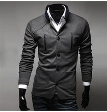 Fashion Men Suit Brand Blazer Men Casual Slim Clothing Suit Stand Collar