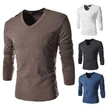 New Arrival Hot Sale Fit Slim Pocket Decoration T-Shirt Men Solid Top Tees Casual Fashion T-Shirt