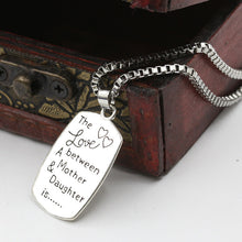 "Fashion Necklace ""The Love between A Mother & Daughter is "" Letter Pendant Necklare for Mother Gift"