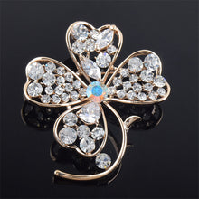 Women's Brooch  Colorful High-grade Crystal Flower Brooch For Wedding Gift