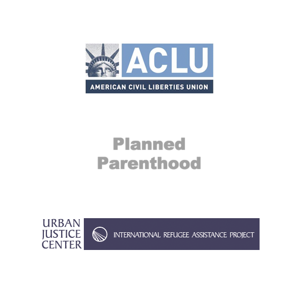 Give Additional Donation to the ACLU, PP & IRAP