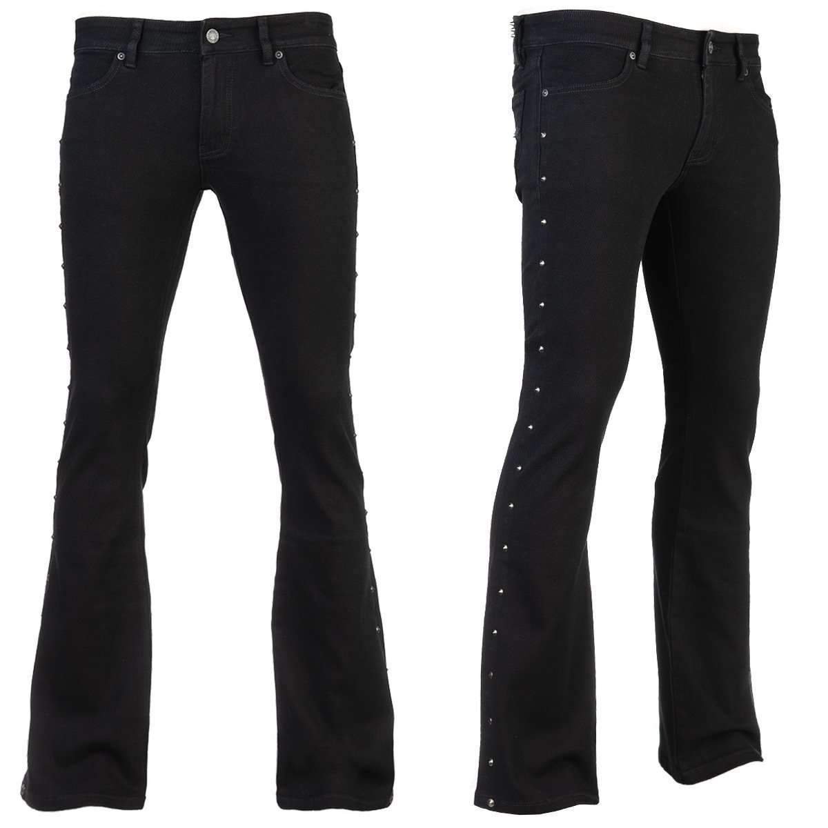 Wornstar GAUNTLET STUDDED BLACK SLIM FIT Jeans