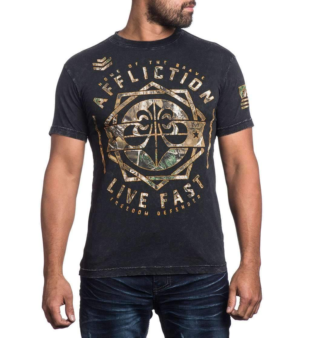 Affliction Brave Defender Mens t Shirt