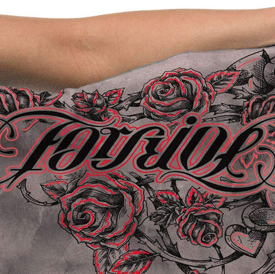 Red Chapter Womens 'Forgive / Forget' Short Sleeve Grey T Shirt