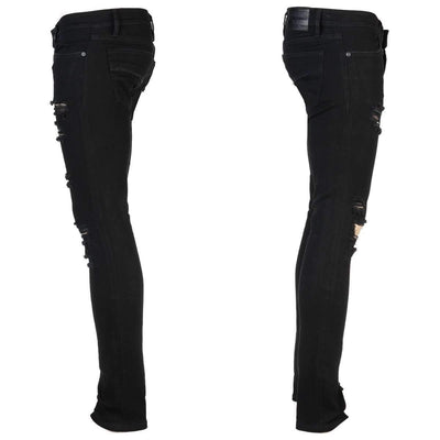 Wornstar RAMPAGER BLACK SHREDDED Jeans