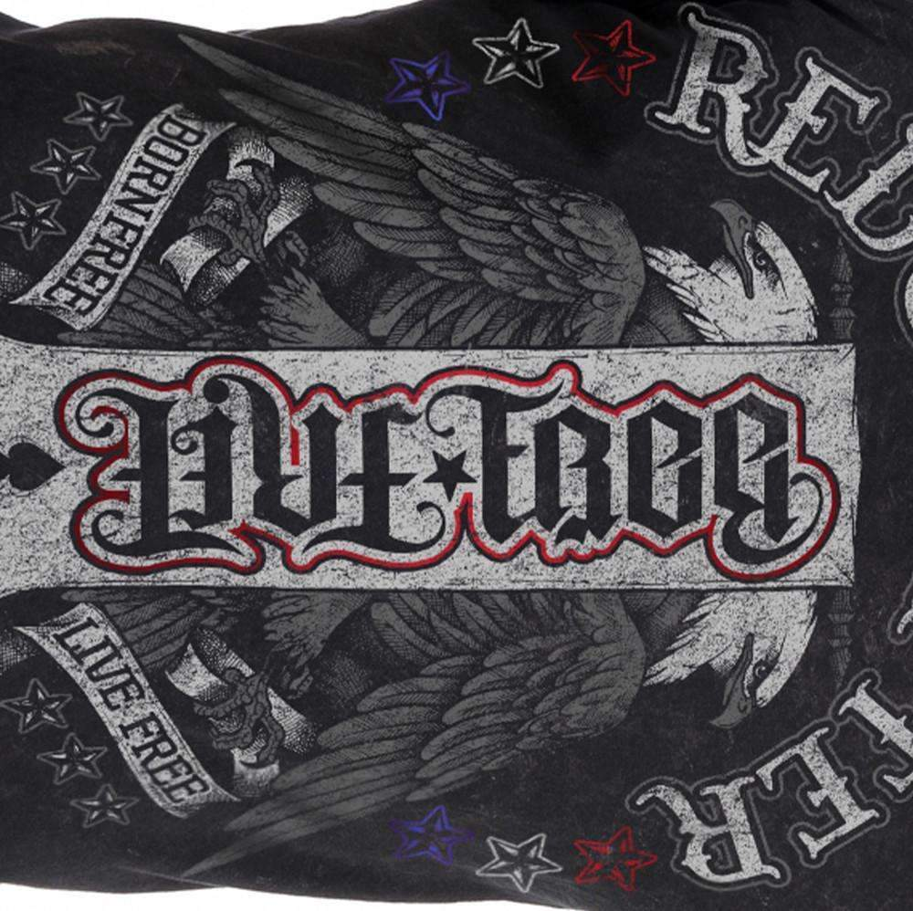 Red Chapter Mens 'Born Free/Live Free' Long Sleeved Shirt